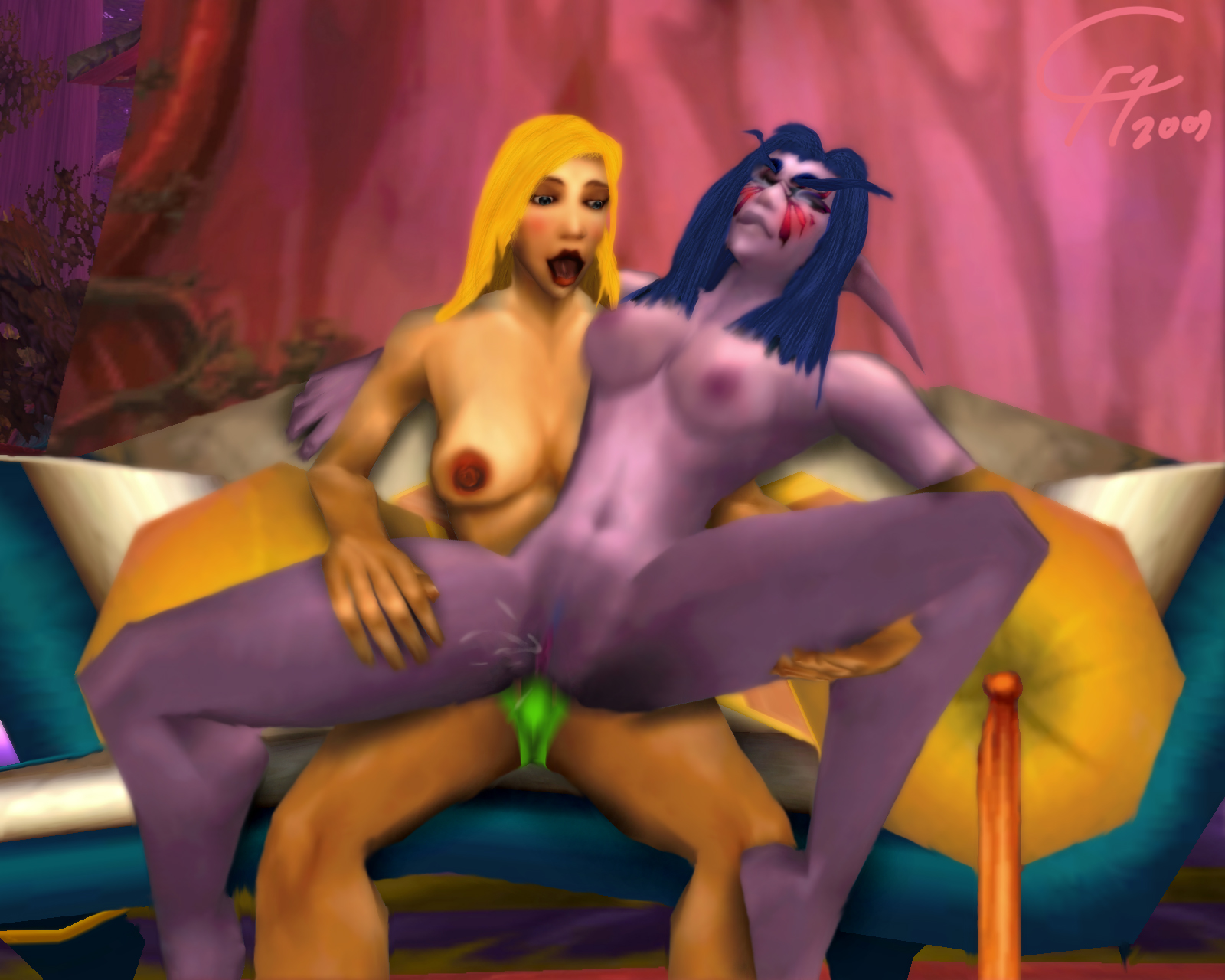 Wow human gets fucked by nelf hentai video